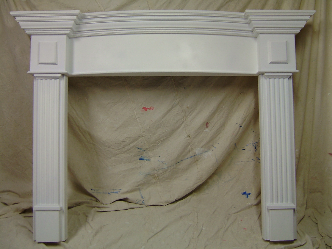 Curved Fireplace Mantle